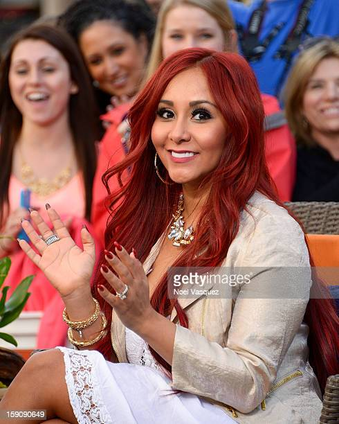 Nicole 'Snooki' Polizzi visits Extra at The Grove on January 7 2013 in Los Angeles California