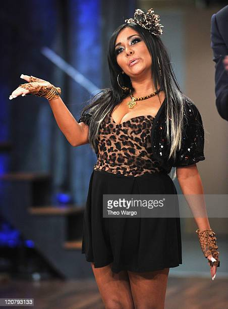 Nicole Snooki Polizzi visits Late Night With Jimmy Fallon at Rockefeller Center on August 10 2011 in New York City