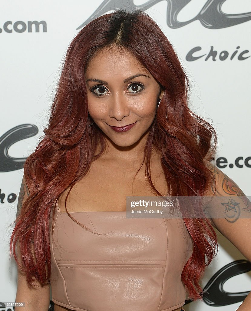 Nicole 'Snooki' Polizzi Visits Music Choice's 'You & A' at Music Choice on January 15, 2014 in New York City.
