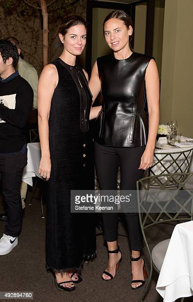 Nicole Snope and Ariel Ashe attend The Apartment by The Line LA opening on October 15 2015 in Los Angeles California