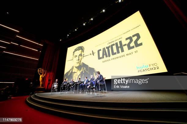 Nicole Sperling, Christopher Abbott, George Clooney, Grant Heslov, Kyle Chandler, Luke Davies, Ellen Kuras and Richard Brown speak onstage during the...