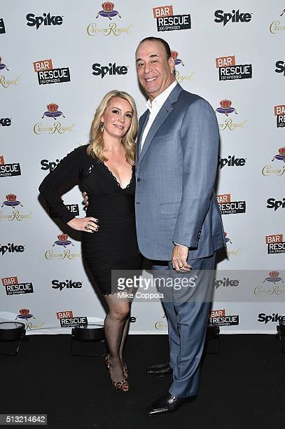 Nicole Taffer and host of Bar Rescue Jon Taffer attend Spike's Bar Rescue 100th Episode Celebration with Jon Taffer at STK Midtown on March 1 2016 in...