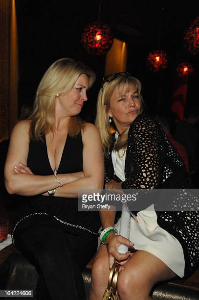 Nicole Taffer and Nancy Hadley appear during a Platinum party at the Marquee Nightclub at The Cosmopolitan of Las Vegas during the 28th annual...