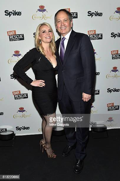 Nicole Taffer and President of Spike TV Kevin Kay attend Spike's Bar Rescue 100th Episode Celebration with Jon Taffer at STK Midtown on March 1 2016...