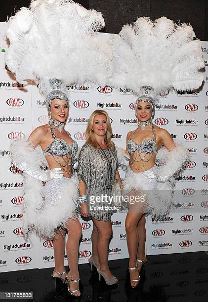 Nicole Taffer arrives at the 26th Annual Nightclub Bar Convention and Trade Show's Show and Glow Party at Haze Nightclub at the Aria Resort Casino at...