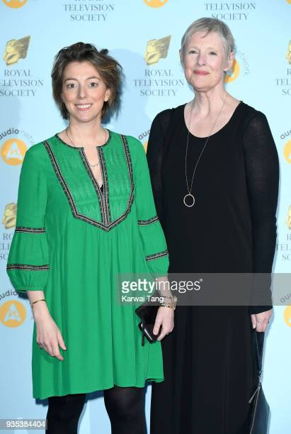 Nicole Taylor and Philippa Lowthorpe attend the RTS Programme Awards held at The Grosvenor House Hotel on March 20 2018 in London England