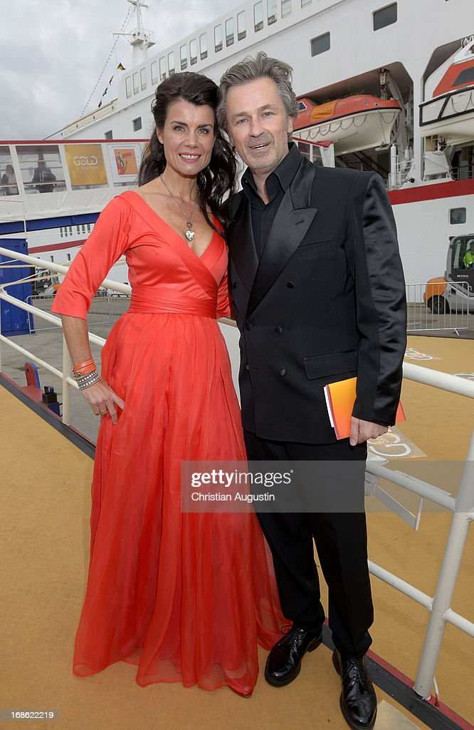 Nicole Tiggeler and Timothy Peach attend the charity event 'Die Goldene Deutschland' at MS Deutschland on May 12, 2013 in Hamburg, Germany.