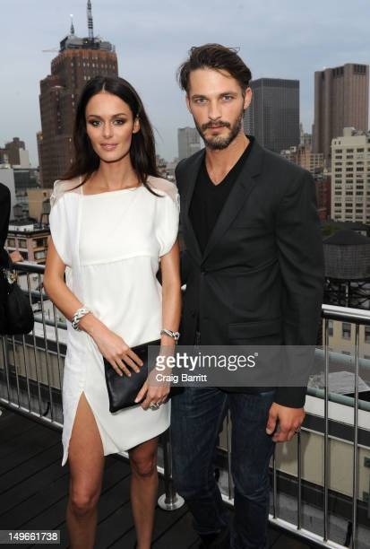 Nicole Trunfio and Ben Hill attend the David Yurman annual rooftop soiree at David Yurman Rooftop on August 1 2012 in New York City