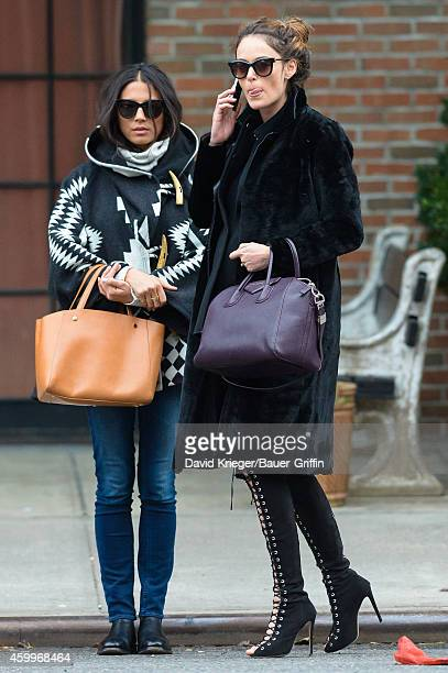 Nicole Trunfio and Jessica Gomes are seen in New York City on December 04 2014 in New York City