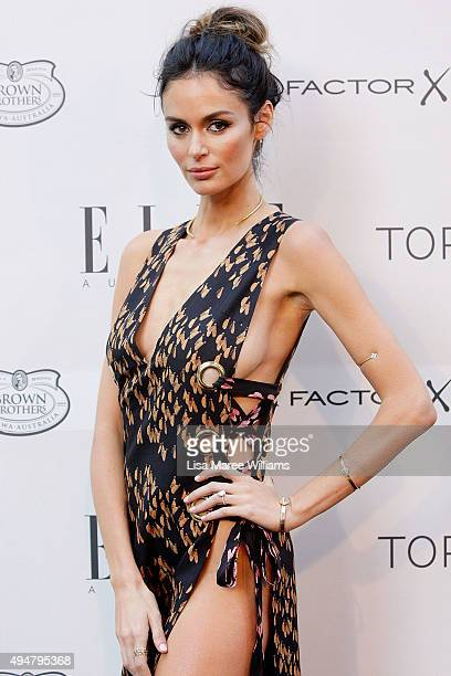 Nicole Trunfio arrives ahead of the ELLE Style Awards at The Mint on October 29 2015 in Sydney Australia