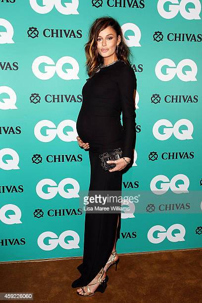 Nicole Trunfio arrives for the GQ Men Of The Year Awards 2014 at The Ivy on November 19 2014 in Sydney Australia