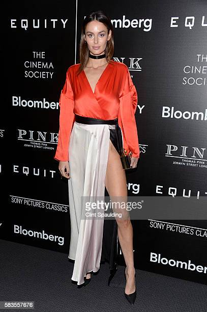 Nicole Trunfio attends a Screening of Sony Pictures Classics' Equity hosted by The Cinema Society with Bloomberg Thomas Pink at TBD on July 26 2016...