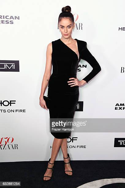 Nicole Trunfio attends Harper's BAZAAR celebration of the 150 Most Fashionable Women presented by TUMI in partnership with American Express La Perla...