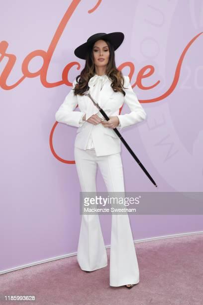 Nicole Trunfio attends Oaks Day at Flemington Racecourse on November 07 2019 in Melbourne Australia