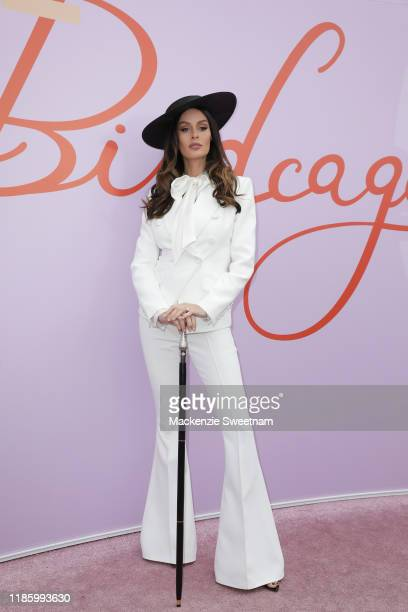 Nicole Trunfio attends Oaks Day at Flemington Racecourse on November 07 2019 in Melbourne Australia