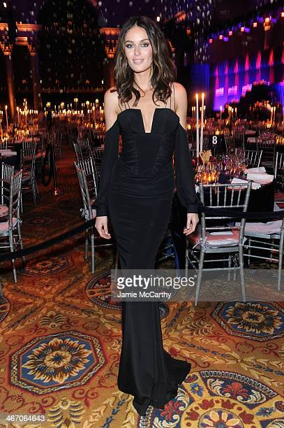 Nicole Trunfio attends the 2014 amfAR New York Gala at Cipriani Wall Street on February 5 2014 in New York City