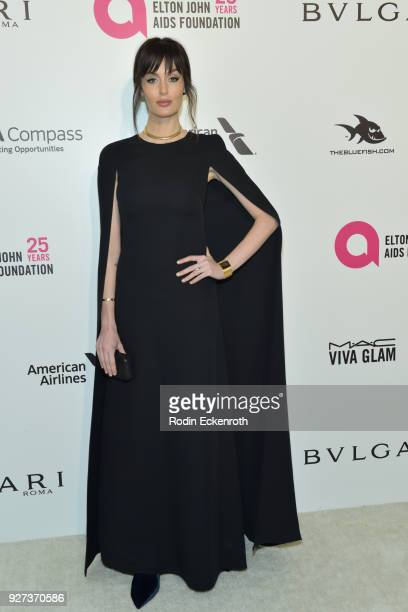 Nicole Trunfio attends the 26th annual Elton John AIDS Foundation's Academy Awards Viewing Party at The City of West Hollywood Park on March 4 2018...