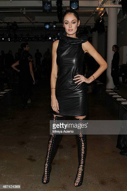 Nicole Trunfio attends the Dion Lee fashion show during MADE Fashion Week Fall 2014 at Milk Studios on February 6 2014 in New York City