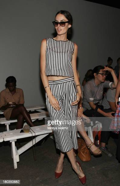 Nicole Trunfio attends the Dion Lee show during MercedesBenz Fashion Week Spring 2014 at Eyebeam on September 11 2013 in New York City