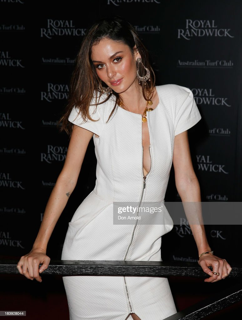 Nicole Trunfio attends the Gala Launch event to celebrate the new Australian Turf Club Grandstand at Royal Randwick Racecourse on October 10, 2013 in Sydney, Australia.