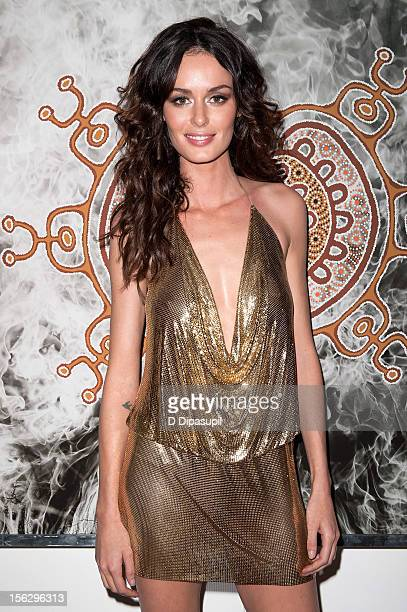 Nicole Trunfio attends the Raw Spirit Fire Tree fragrance oil and Nomad Two Worlds book launch event at ABC Carpet Home on November 12 2012 in New...