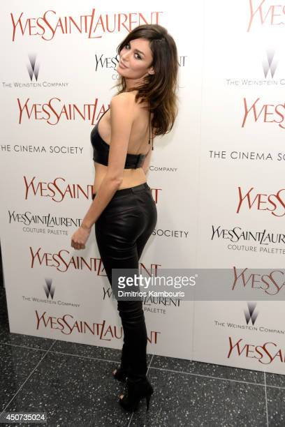 Nicole Trunfio attends The Weinstein Company's Yves Saint Laurent premiere hosted by Yves Saint Laurent Couture Palette The Cinema Society at Museum...