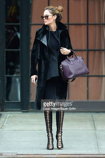 Nicole Trunfio is seen in New York City on December 04 2014 in New York City