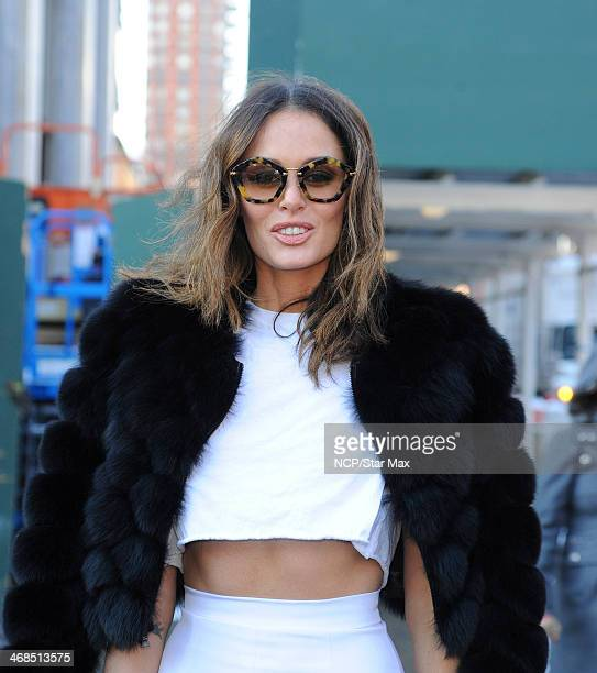 Nicole Trunfio is seen on February 10 2014 in New York City