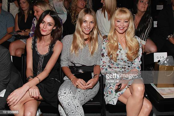 Nicole Trunfio Jessica Hart and Charlotte Ross attend the Whitney Eve Spring 2013 MercedesBenz Fashion Week Show at The Studio Lincoln Center on...