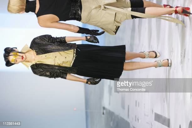 Nicole Trunfio wearing Boudicca Spring 2006 during Olympus Fashion Week Spring 2006 Boudicca Runway at Bumble Bumble in New York City New York United...