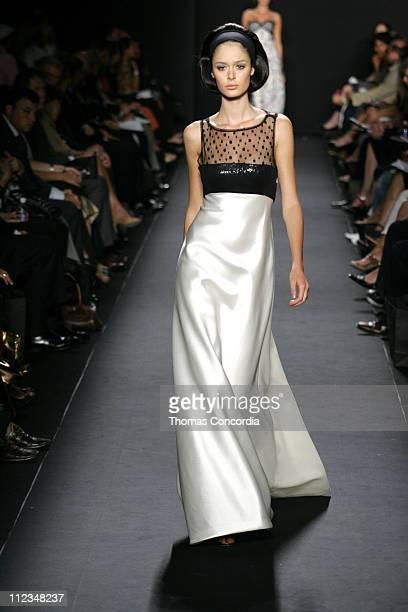 Nicole Trunfio wearing Carmen Marc Valvo Spring 2006