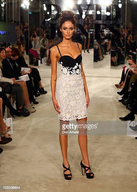 Nicole Trunfio wears designs by Alex Perry for the David Jones Spring/Summer 2010 Season Launch at David Jones Elizabeth Street Store on August 3...