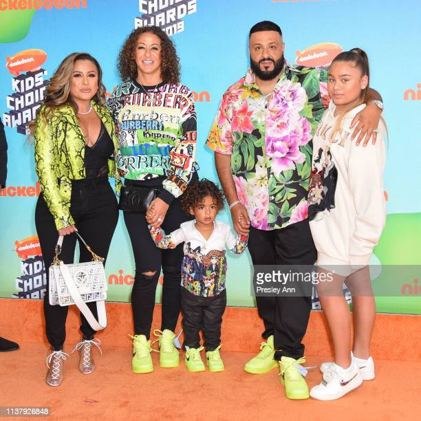 Nicole Tuck Asahd Tuck Khaled DJ Khaled and guests attend Nickelodeon's 2019 Kids' Choice Awards at Galen Center on March 23 2019 in Los Angeles...