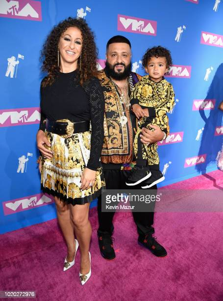 Nicole Tuck DJ Khaled and Asahd Khaled attend the 2018 MTV Video Music Awards at Radio City Music Hall on August 20 2018 in New York City