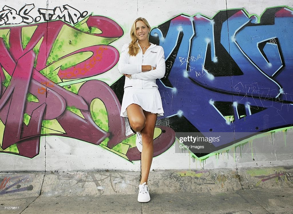 Nicole Vaidisova of Czech Republic poses in her Wimbledon outfit at the Westway Tennis Centre on June 22, 2006 in London.