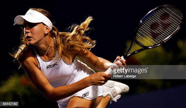 Nicole Vaidisova of the Czech Republic plays Justine HeninHardenne of Belgium during the quarterfinals of the Sony Ericsson WTA Tour Rogers Cup...