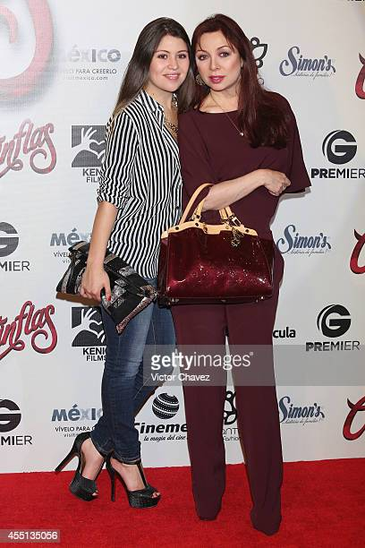 Nicole Vale and Arlette Pacheco attend the Cantinflas Mexico City premiere at Cinemex Antara Polanco on September 9 2014 in Mexico City Mexico