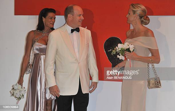 Nicole Valerie Coste attends the 62nd Monaco Red Cross Ball at the Sporting Club Monte Carlo on July 30 in Monte Carlo Monaco on August 30th 2010