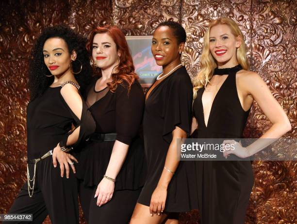 Nicole Vanessa Ortiz Alysha Umphress Dionne D Figgins and Emma Degerstedt attend the photo call for the new production of 'Smokey Joe's Cafe' at...