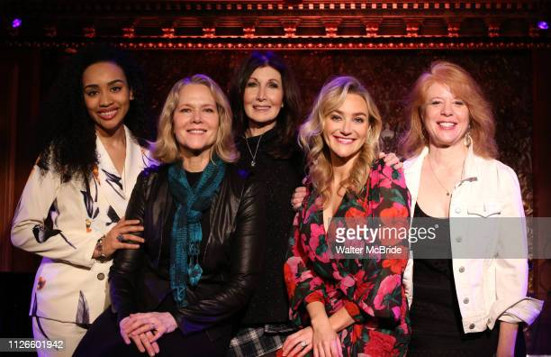 Nicole Vanessa Ortiz Rebecca Luker Joanna Gleason Betsy Wolfe and Deborah Grace Winer during the Press Preview at Feinsteins/54 Below on February 21...