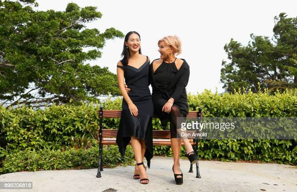Nicole Warne and DeborraLee Furness pose ahead of An Evening With DeborraLee Furness For Adopt Change at Kirribilli House on December 19 2017 in...