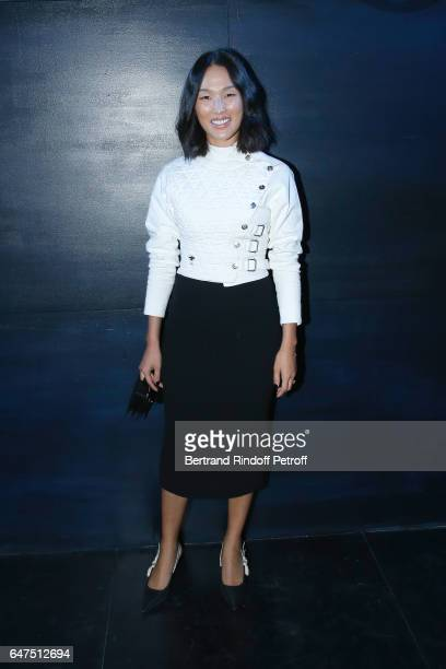 Nicole Warne attends the Christian Dior show as part of the Paris Fashion Week Womenswear Fall/Winter 2017/2018 on March 3 2017 in Paris France