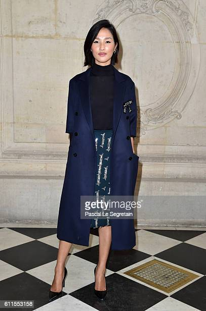 Nicole Warne attends the Christian Dior show of the Paris Fashion Week Womenswear Spring/Summer 2017 on September 30 2016 in Paris France
