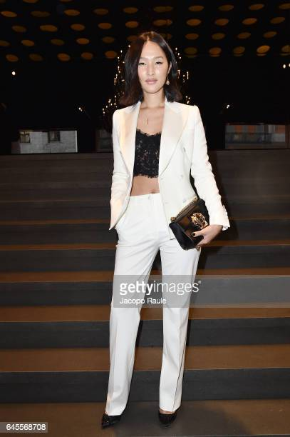 Nicole Warne attends the Dolce Gabbana show during Milan Fashion Week Fall/Winter 2017/18 on February 26 2017 in Milan Italy
