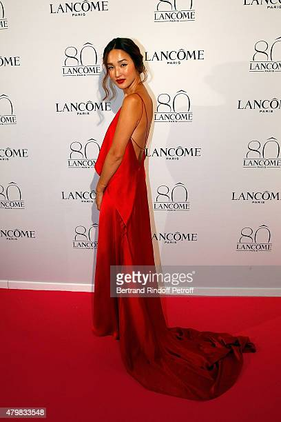 Nicole Warne attends the Lancome 80th Anniversary Party as part of Paris Fashion Week Haute Couture Fall/Winter 2015/2016 on July 7 2015 in Paris...