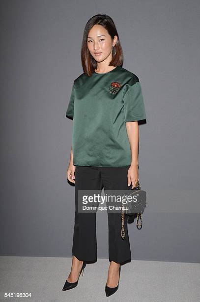 Nicole Warne attends the Viktor Rolf Haute Couture Fall/Winter 20162017 show as part of Paris Fashion Week on July 6 2016 in Paris France