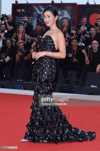 """Nicole Warne walks the red carpet ahead of the """"Joker"""" screening during the 76th Venice Film Festival at Sala Grande on August 31, 2019 in Venice,..."""