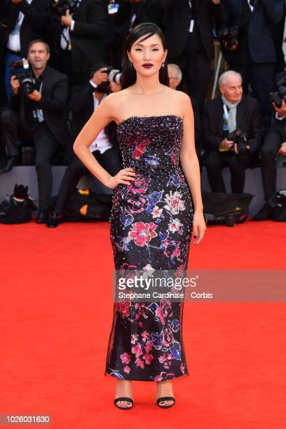 Nicole Warne walks the red carpet ahead of the 'Suspiria' screening during the 75th Venice Film Festival at Sala Grande on September 1 2018 in Venice...