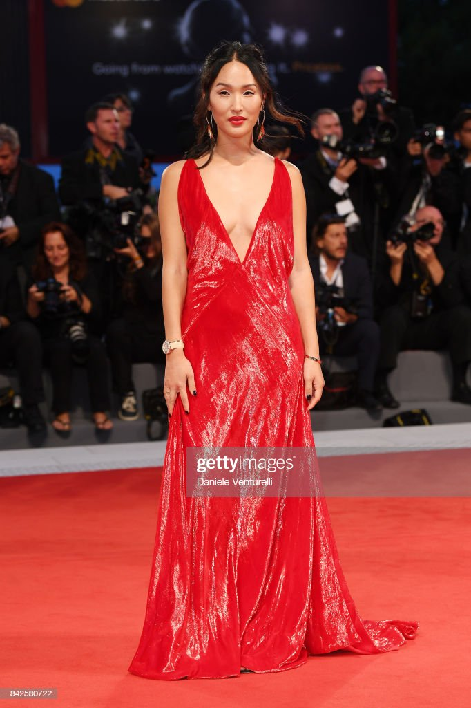 Nicole Warne walks the red carpet wearing a Jaeger-LeCoultre watch ahead of the 'Three Billboards Outside Ebbing, Missouri' screening during the 74th Venice Film Festival at Sala Grande on September 4, 2017 in Venice, Italy.