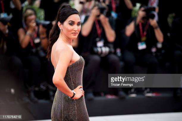 Nicole Warne wearing JaegerLeCoultre watch walks the red carpet ahead of the Opening Ceremony and the La Vérité screening during the 76th Venice Film...